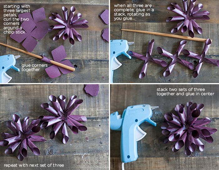 Как сделать георгины из бумаги