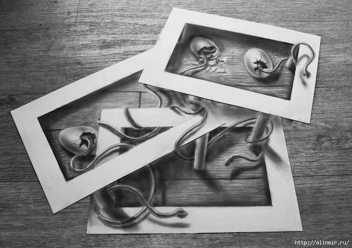 трехмерные рисунки карандашом11 (700x494, 220Kb)