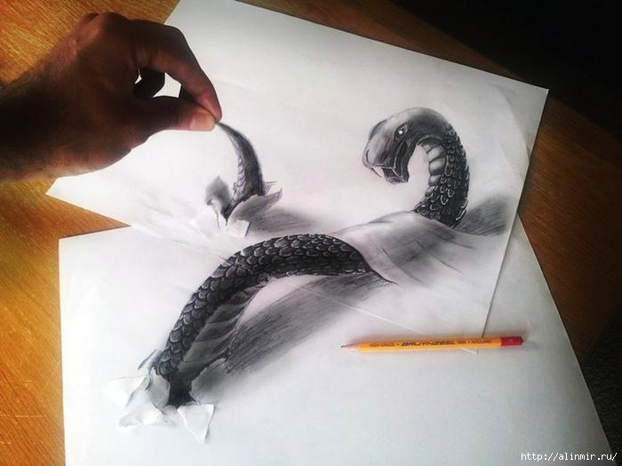 трехмерные рисунки карандашом7 (700x525, 203Kb)