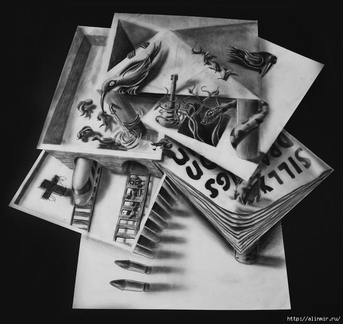 трехмерные рисунки карандашом5 (700x662, 222Kb)