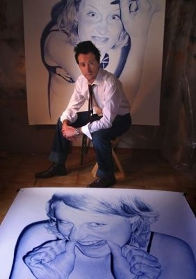 Картины шариковой ручкой Хуана Франсиско Касаса (282x400, 52Kb)
