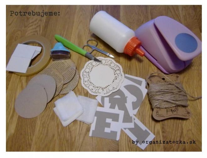 Винтажная гирлянда из бумажных ажурных салфеток и марли (2) (660x504, 131Kb)