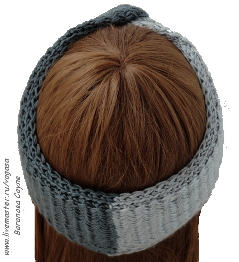 повязка на голову вязаная