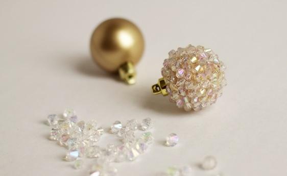 las bolas de Navidad y preciosos árboles de Navidad con perlas y cuentas (3) (562x345, 63Kb)