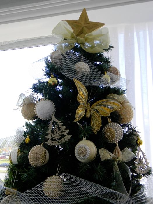 las bolas de Navidad y preciosos árboles de Navidad con perlas y cuentas (34) (525x700, 289KB)