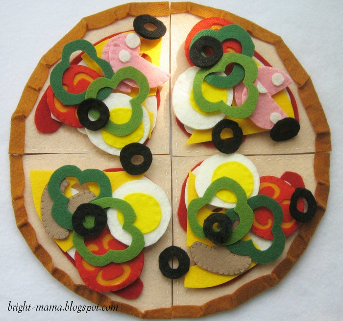 felt pizza (11) � ���� (700x655, 557Kb)