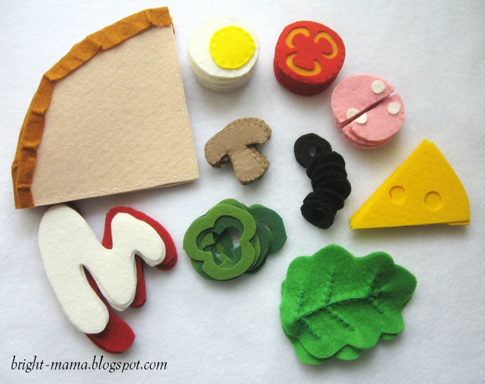 felt pizza � ���� (700x554, 432Kb)