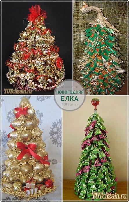Новогодняя елка в подарок своими руками