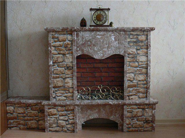 Как изготовить камин декором