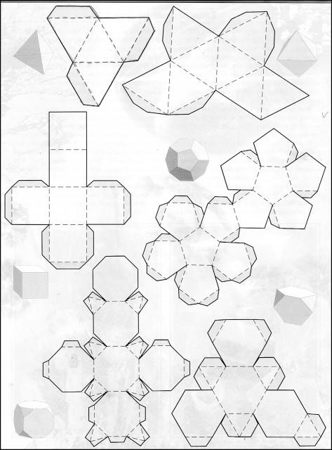 Как сделать объемные фигуры из бумаги своими руками схемы шаблоны 31