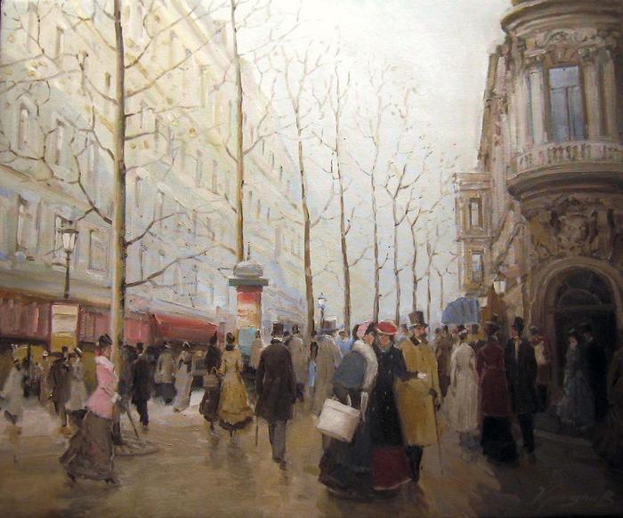 Красулин Валерий.городские прогулки (700x582, 64Kb)