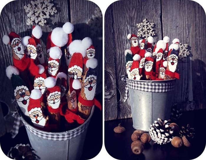 Березовые Санта Клаусы) Веселые поделки для творчества с детьми (2) (700x543, 302Kb)