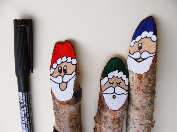 Березовые Санта Клаусы) Веселые поделки для творчества с детьми (20) (700x525, 215Kb)