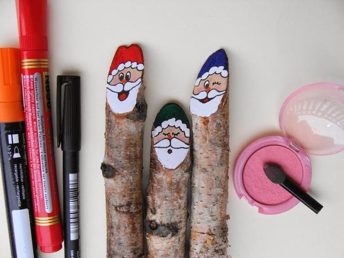 Березовые Санта Клаусы) Веселые поделки для творчества с детьми (22) (700x525, 229Kb)