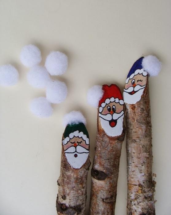 Березовые Санта Клаусы) Веселые поделки для творчества с детьми (24) (557x700, 195Kb)
