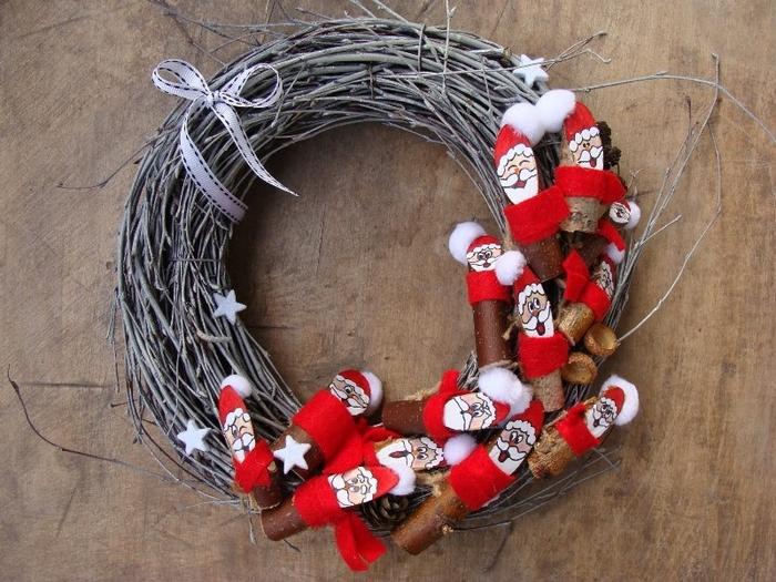 Березовые Санта Клаусы) Веселые поделки для творчества с детьми (33) (700x525, 322Kb)