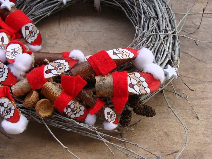 Березовые Санта Клаусы) Веселые поделки для творчества с детьми (34) (700x525, 306Kb)
