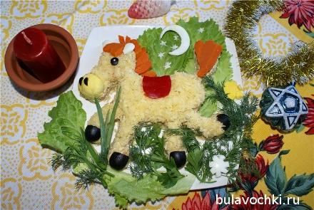 Рецепты салатов с фото на новый год 2014