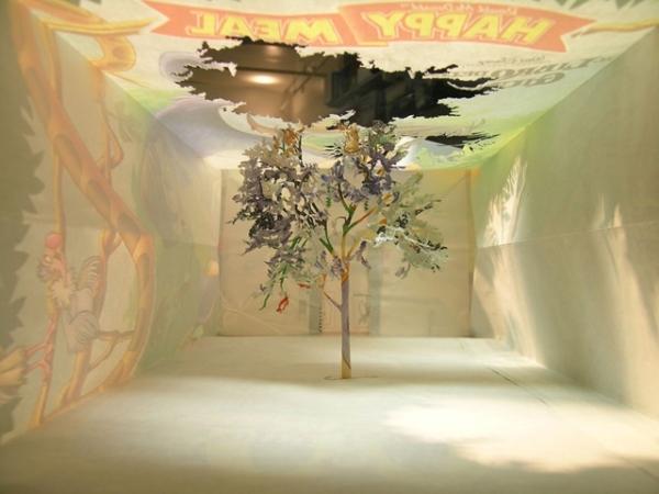 бумажные деревья художник Юкен Теруя 1 (600x450, 167Kb)