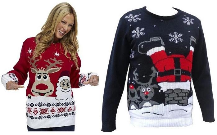 Весёлые новогодние свитера с