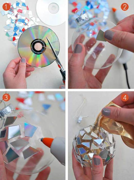Новогодняя игрушка шар из бумаги на елку