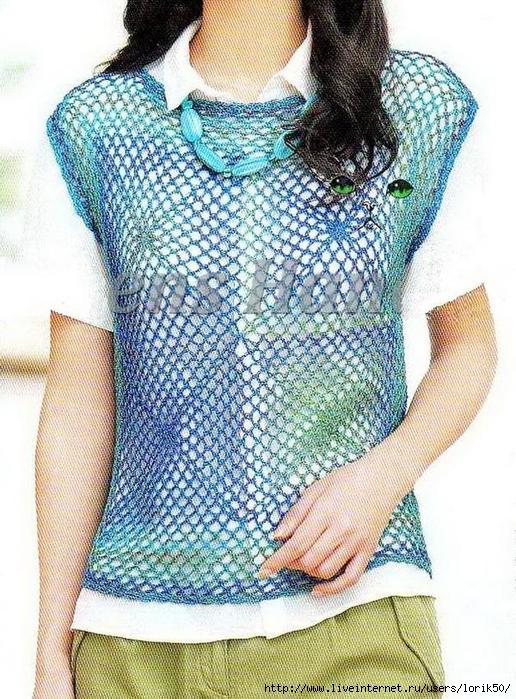 Women Crochet Vest 5 (516x700, 391Kb)