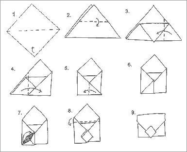 Как сделать конверт из бумаги своими руками 81