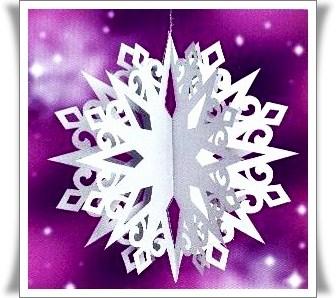 Объемная звезда на новый год своими руками