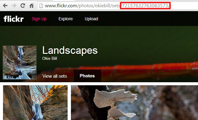DownFlickr Sets Id