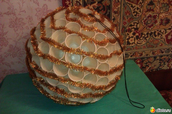 Поделки из пластмассовых шариков своими руками