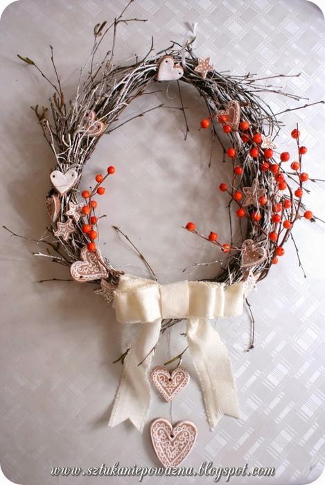 Рождественские венки из веток своими руками