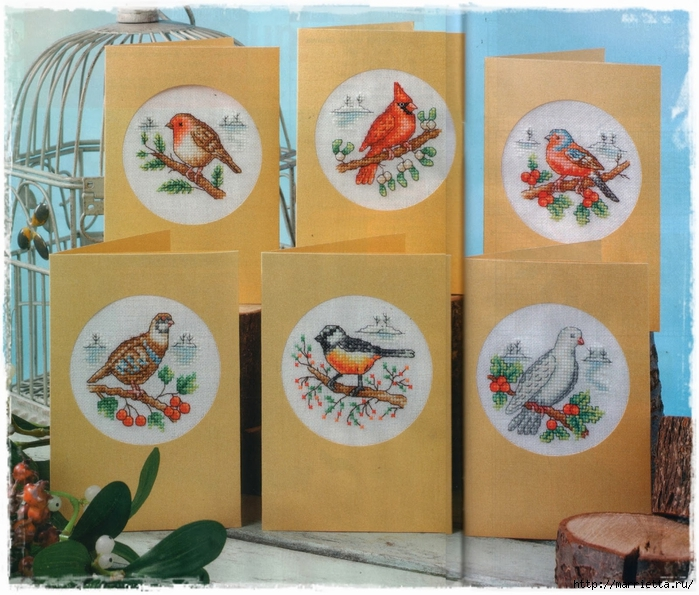 Схемы вышивки. Новогодняя и цветочная тематика (8) (700x595, 342Kb)