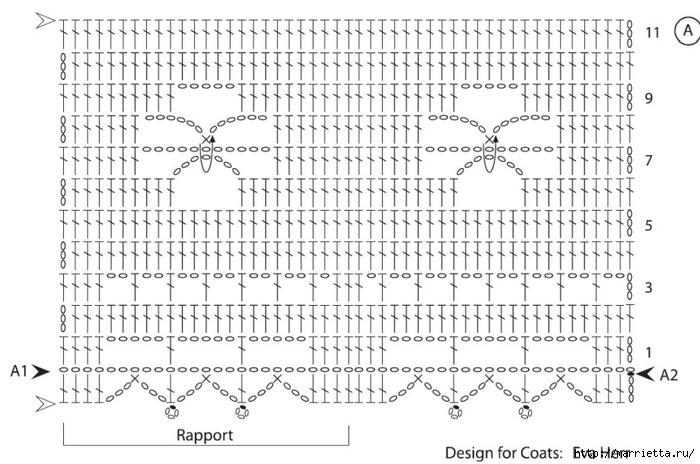 Crochet.  Mantel y recortar los bordes (8) (700x464, 220KB)