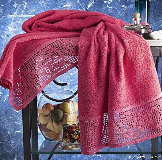Crochet.  Mantel y recortar los bordes (12) (529x524, 271Kb)