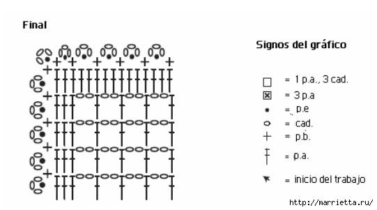 Crochet.  Mantel y recortar los bordes (14) (541x301, 54Kb)