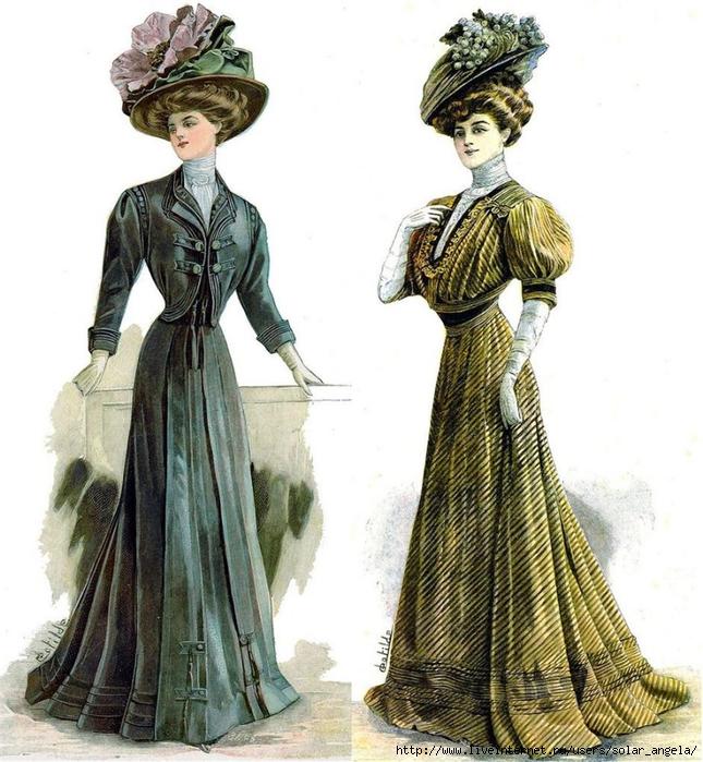 Войдёт в моду одежда в стиле конца 19 - начала 20 века! . Это пока мои лич