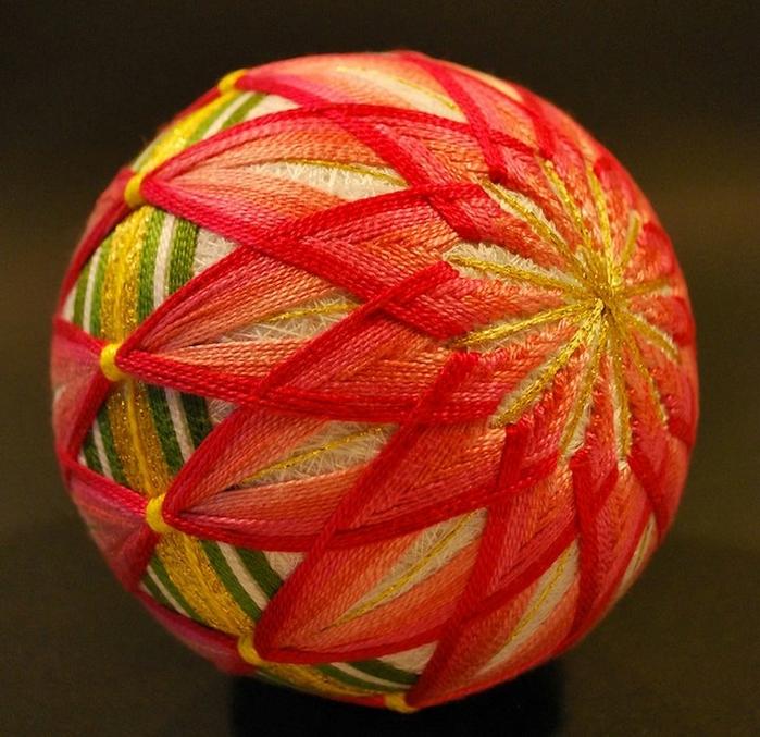 Японские шары из ниток