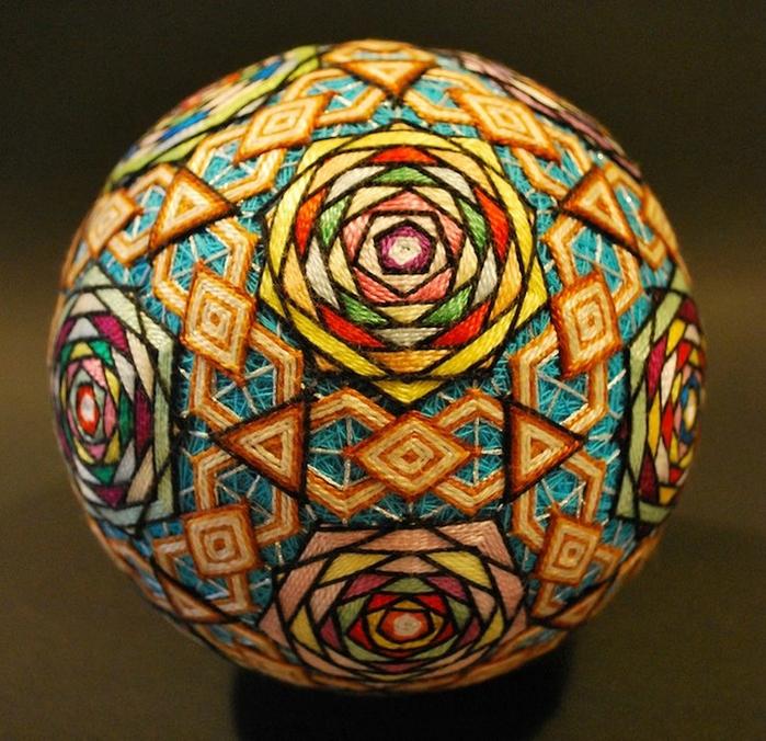 японские шары темари фото 8 (700x676, 384Kb)