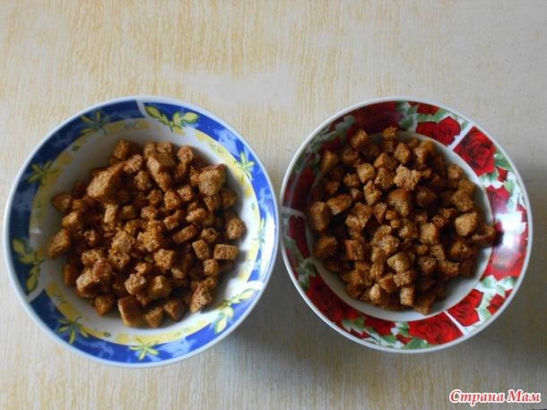 Как из булки сделать сухарики