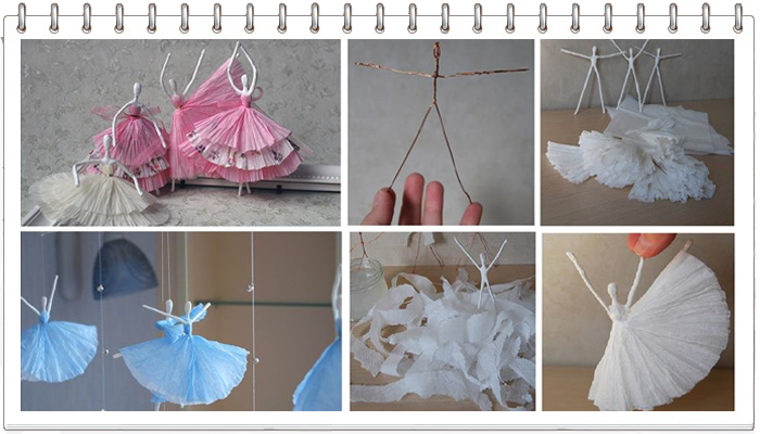 Балерина из салфетки 130