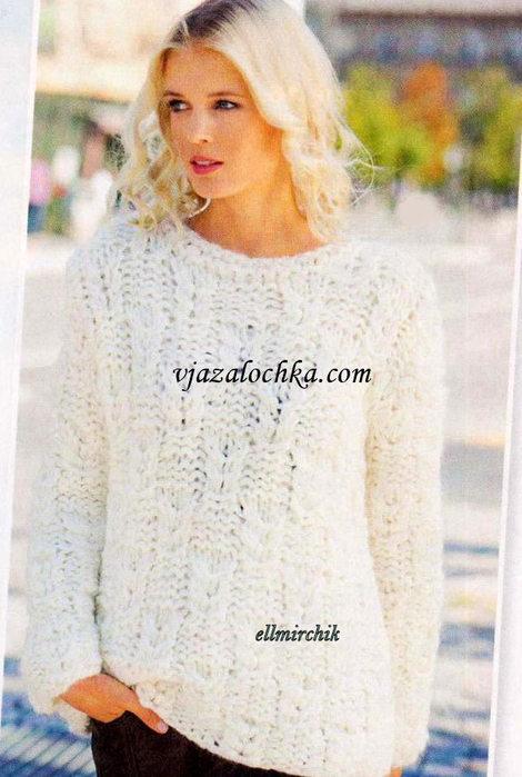 Пуловер Из Толстой Пряжи