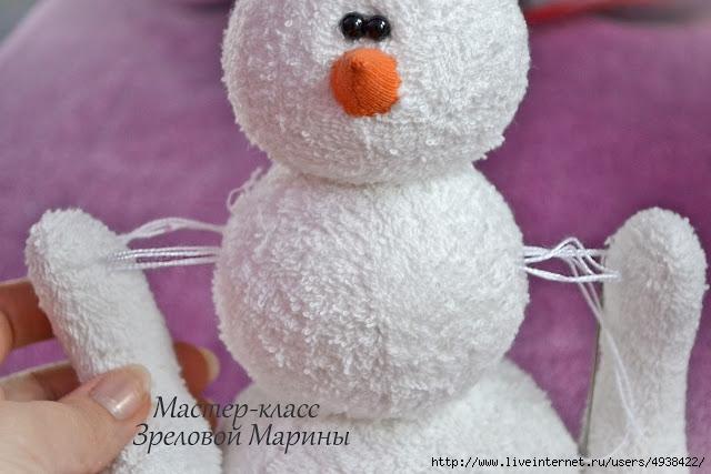 Как сделать Как сшить игрушку снеговика своими