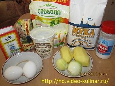 Ингредиенты рыбног пирога из консервы (395x296, 107Kb)
