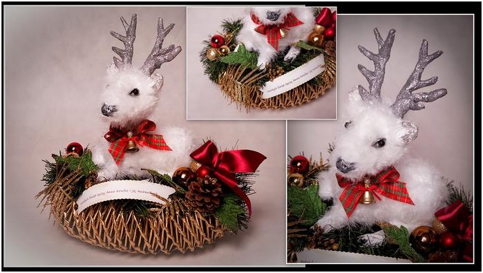 Рождественский СЕВЕРНЫЙ ОЛЕНЬ из папье маше. Мастер-класс (22) (700x395, 205Kb)