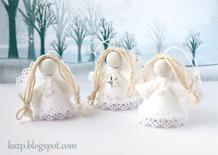 Рождественский ангел из бумаги и фетра. Фото мастер-класс (19) (700x498, 207Kb)