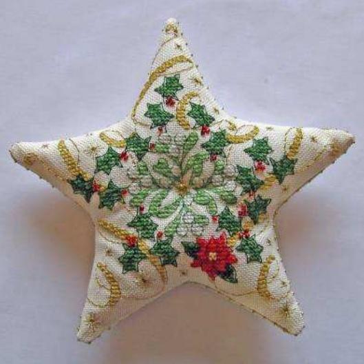 Рождественская звезда с вышивкой. Фото мастер-класс по пошиву (7) (529x528, 148Kb)