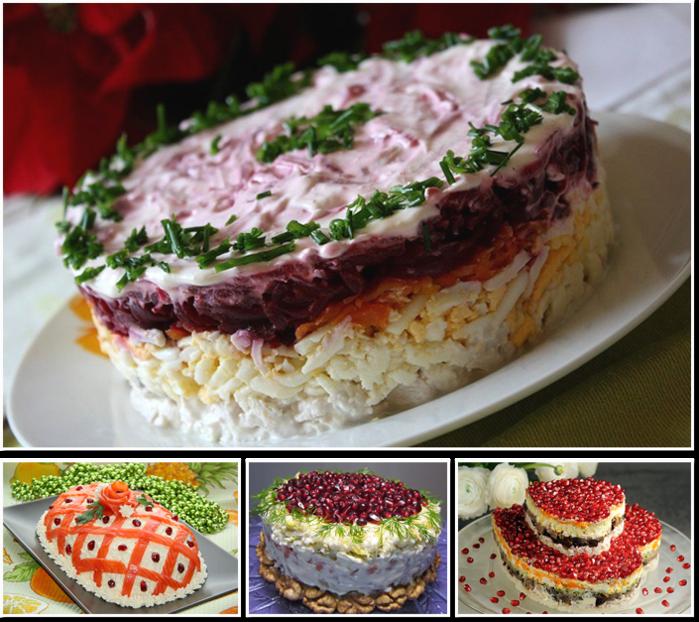 Самые вкусные и красивые праздничные салаты для новогоднего стола
