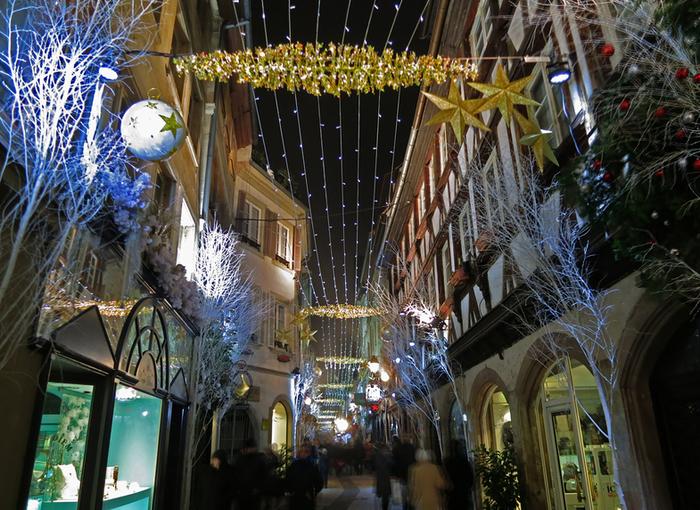 Ночь, Страсбург, Рождество2 (700x510, 565Kb)