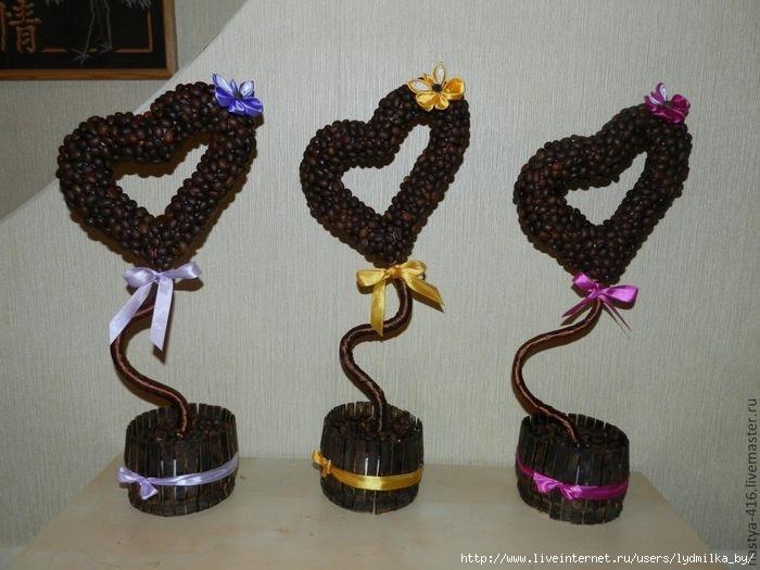 Подарок своими руками кофейное сердце