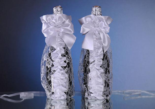 Украшения на бутылку шампанского на новый год